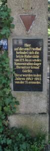 Tafel am Eingang des jüdischen Friedhofes