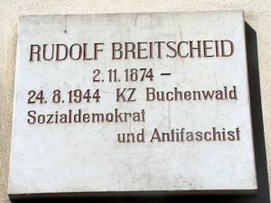 Gedenktafel an Rudolf Breitscheid