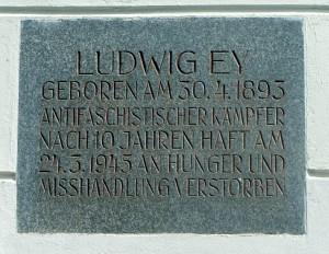 Gedenktafel an Ludwig Ey