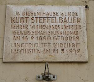 Gedenktafel an Kurt Steffelbauer