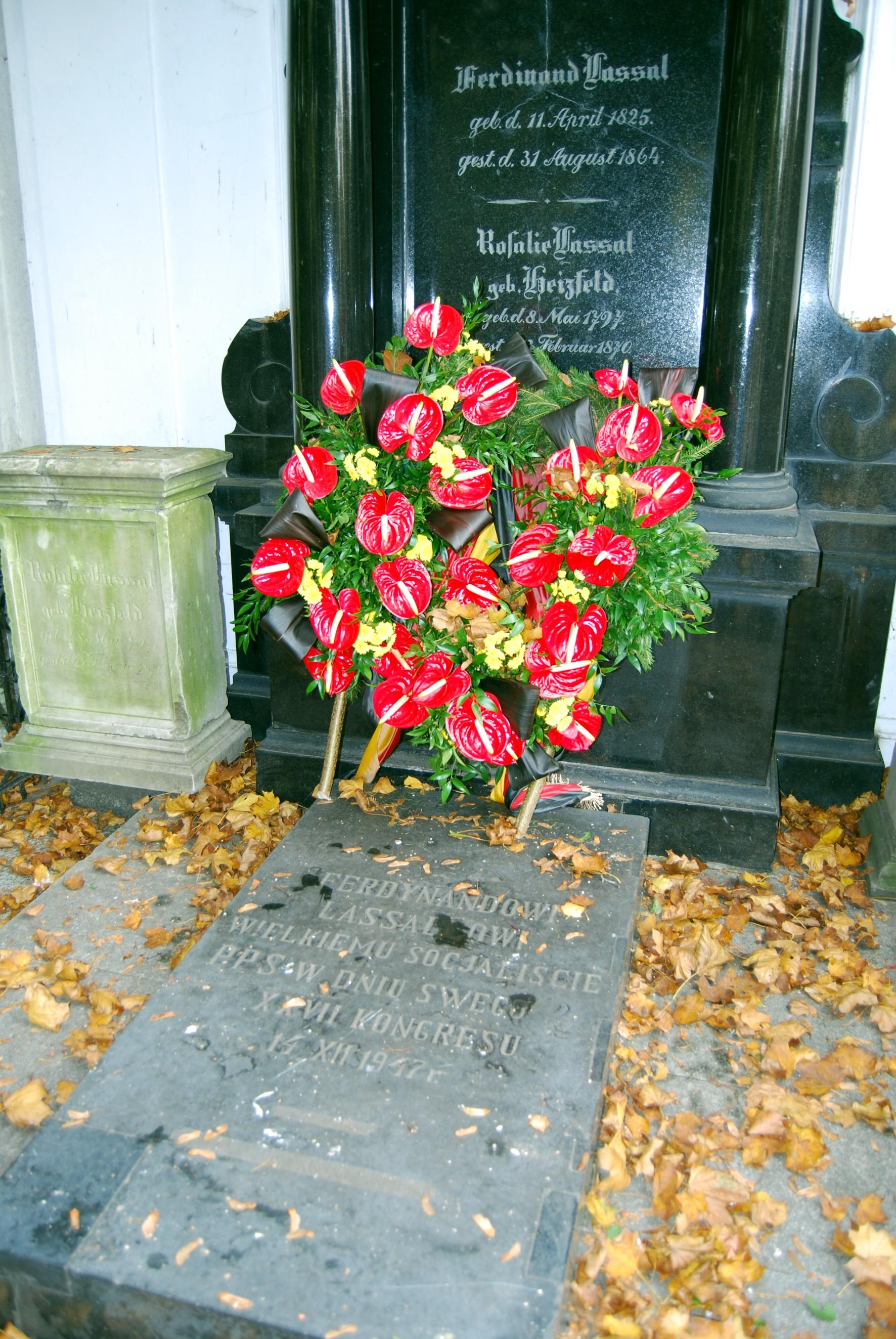 Grab von Lasalle auf dem alten juedischen Friedhof