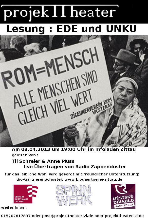 """Lesung """"Ede und Unku"""" am 08.04.2013 im Infoladen Zittau"""